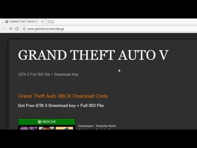 Free download code of GTA 5 for XBOX 360/XBOX ONE (Full ISO File)