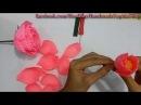 [Hoa giấy nghệ thuật] MẪU ĐƠN bằng giấy nhún | Cách làm HOA MẪU ĐƠN đơn giản _ Made by Saphia