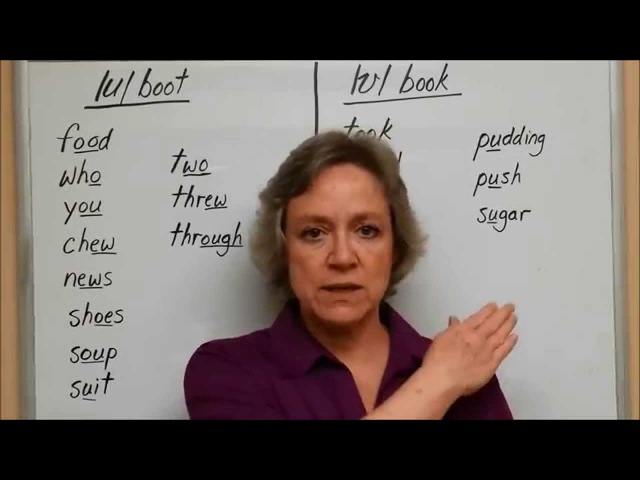 How to Pronounce English Vowels /u/ boot and /ʊ/ book - American English Pronunciation Accent