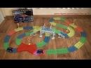 Светящийся трек Magic Tracks с Мостом 360 деталей Гибкая гоночная трасса Обзор конструктора
