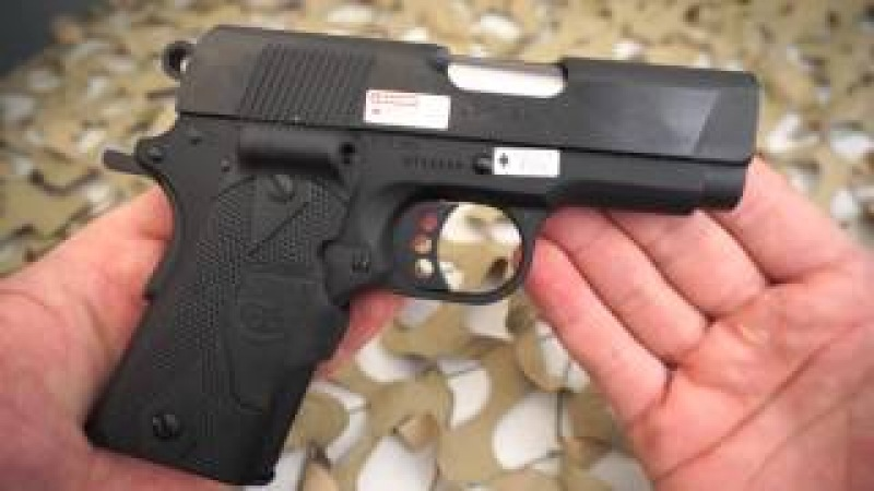 Colt New Agent Compact 1911 45ACP Crimson Trase Laser Grips Overview - Texas Gun Blog