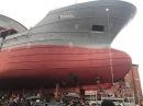 Впервые за 20 лет на заводе Янтарь спускают на воду рыболовецкое судно