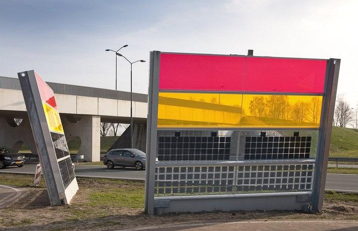 В Нидерландах устанавливают звуковые барьеры из солнечных панелей