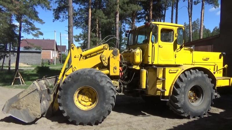 Кировец К 700 701 валка леса вид из кабины