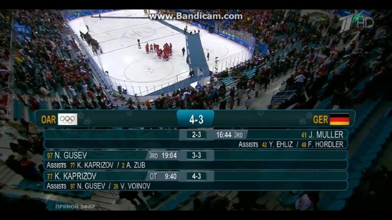 Финал О.И. 2018 Россия - Германия 4:3 Золотой гол