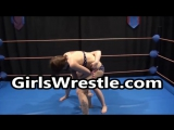 Real competitive female wrestling match in the ring!
