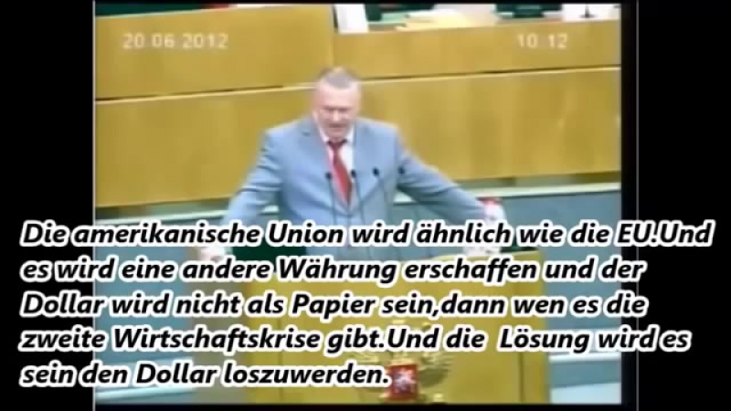 Schirinowski über die Neue Weltordnung - älter, prüft seine Vorhersagen, dieses Video ist der Hammer, etwas holprige Übersetzung