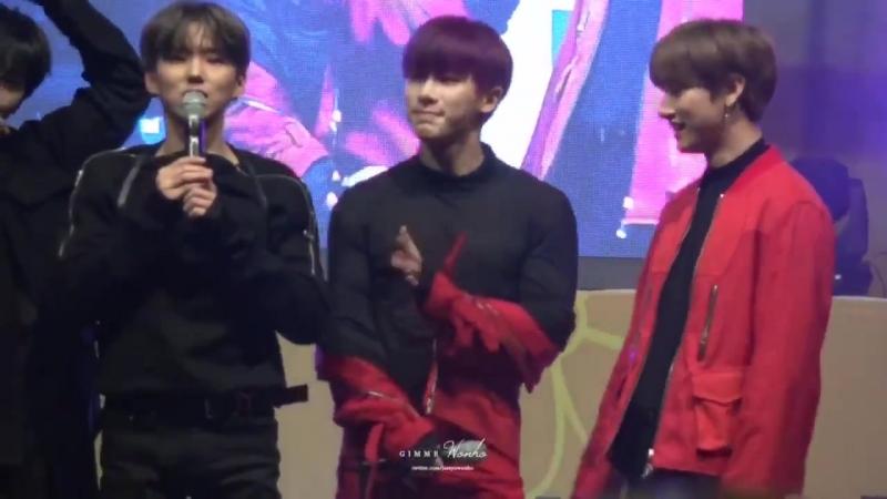 [VK][171116] MONSTA X - Talk (Wonho focus) @ Sejong Empathy Odyssey