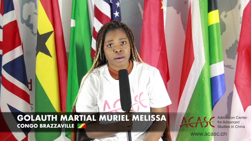 ACASC Study in China - Golauth Martial Muriel Melissa from Congo Brazzaville