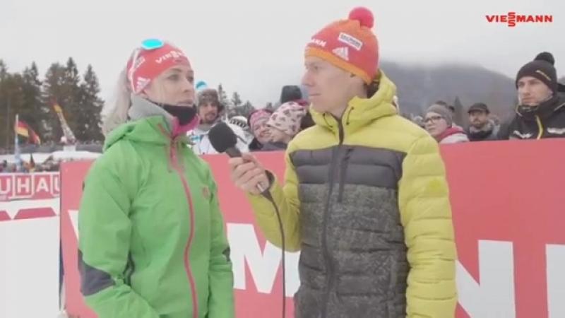Янин Хаммершмидт и Даниэль Бём в Рупольдинге (январь 2017)
