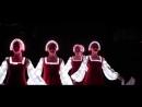 Русский народный танец девушек в светящихся платьях Невероятно красиво mp4