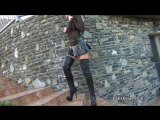 Fetish Liza in leather boots