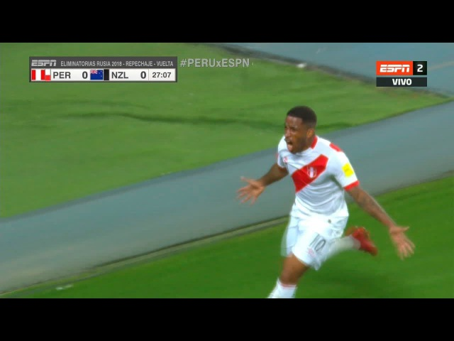 Gol - Jefferson Farfán | Perú 1-0 Nueva Zelanda - Repechaje (VUE) Eliminatorias Rusia 2018