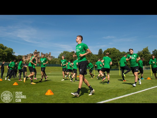 Celtic FC - UCL training as the Hoops prepare to host Linfield