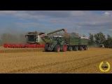2X Claas Lexion 770 TT mit Vario 1200 und Fendt 930, 933 bei der Getreideernte  Wheat Harvest 2016