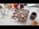 DIY Brick Wall Effect ♡ Craft Hack ♡ Maremi's Small Art ♡