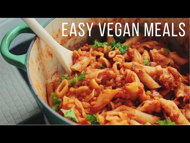 Easy Vegan Meals for Fall Winter!