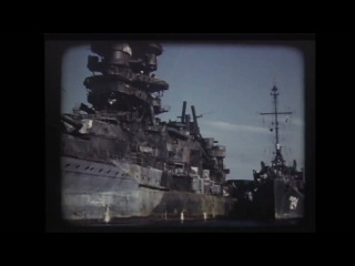 Battleships South Dakota and Nagato (Color:1945)