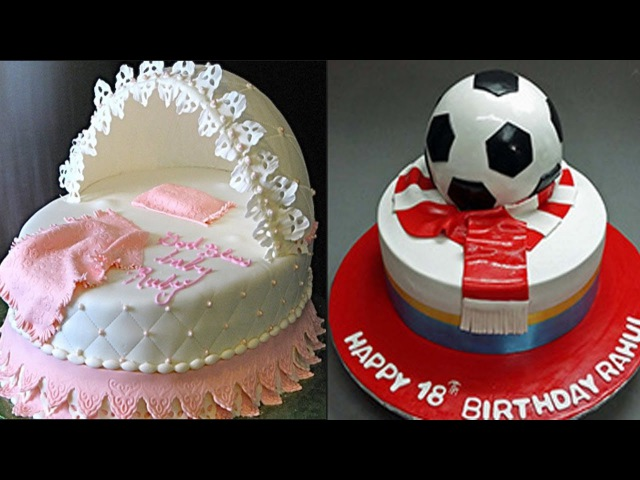 Top 10 Easy Birthday Cake Decorating Ideas - Cakes Style 2017 - oddly satisfying cake videos