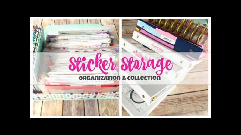 Sticker Storage, Organization Collection   Updated