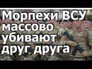 Срочно Морпехи Украины массово убивают друг друга