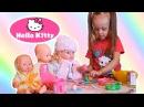 ★ Hello Kitty Хелло Китти Распаковка Игрушка Куклы Беби Борн Unpacking Toy Baby Dolls Born