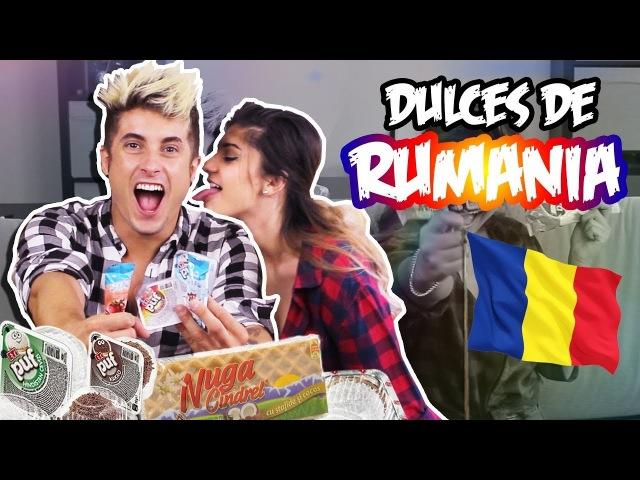 PROBANDO DULCES de RUMANIA con mi AMIGA RUMANA (NO SABE ESPAÑOL!)