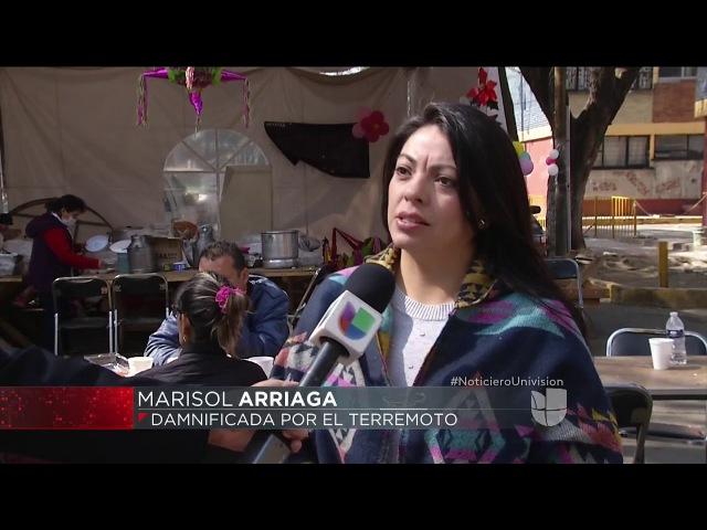 Damnificados de sismos en México dicen en Navidad que el gobierno no los apoya y piden soluciones