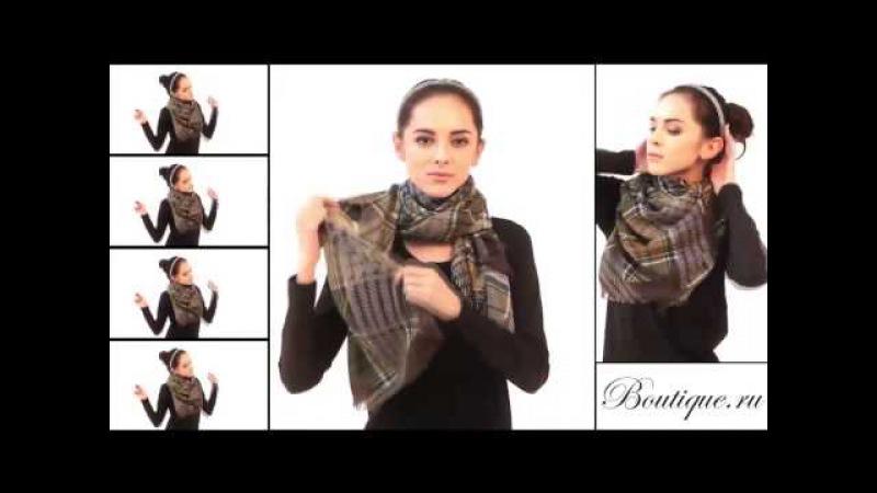 15 способов красиво и элегантно завязать косынку, шарф или шаль