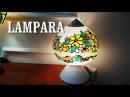 Lampara de imitación tiffany reciclando - IMITATION TIFFANY LAMP