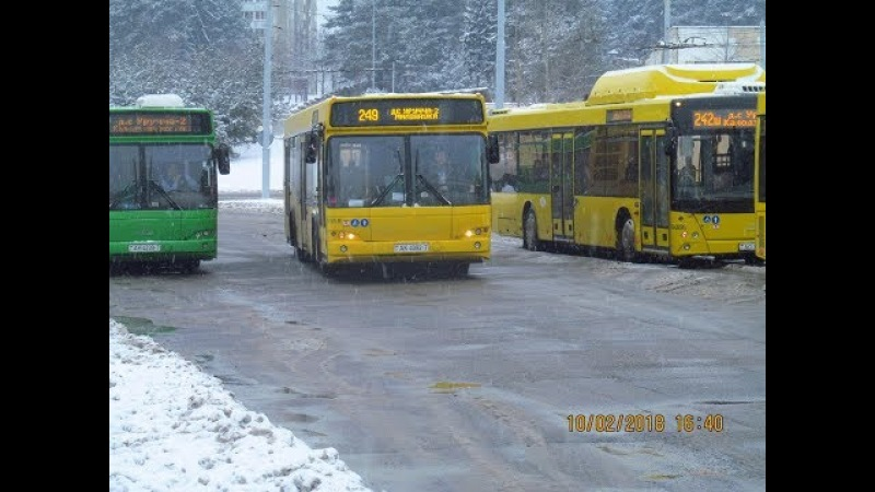 Поездка на автобусе МАЗ-103,гос.№ АК 4092-7 (10.02.2018)