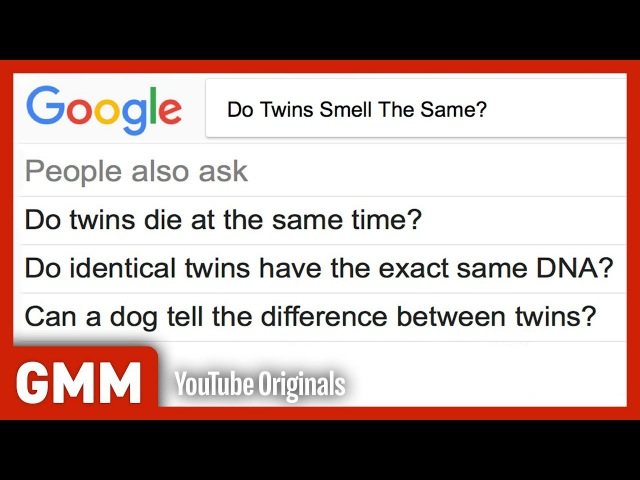 Do Twins Smell The Same? ft. Esther Povitsky | PEOPLE ALSO ASK (GAME)