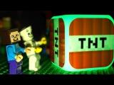 ЛЕГО НУБик против ТНТ Лаки Блоки Майнкрафт Мультики LEGO Minecraft Игрушки и Мультфиль...