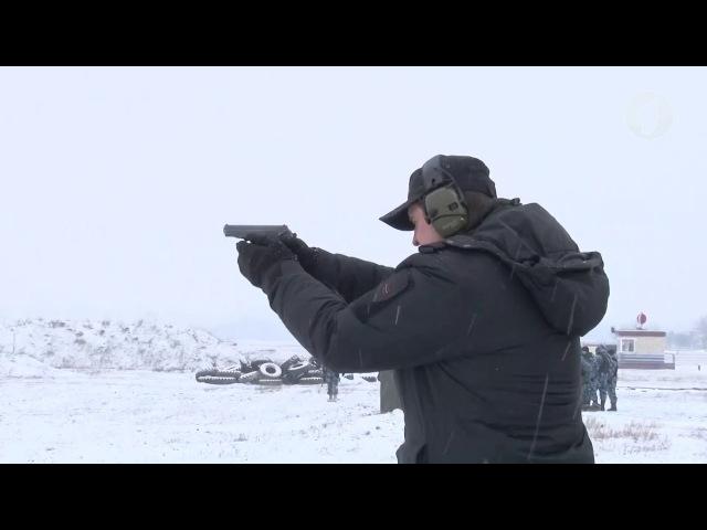 Стрелковые учения спецподразделений и служащих МВД
