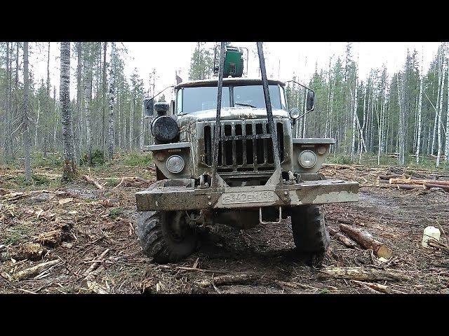 Урал лесовоз Пробил в лесу радиатор горбылём Холодная сварка спасла