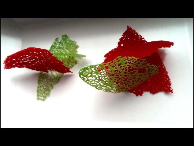 Кружевной чипс. Украшение для еды. How to Make Coral Tuile. English Subtitles