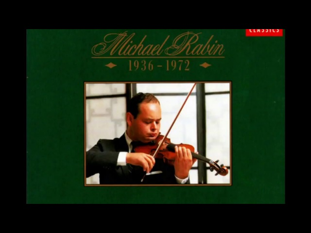 Henri Wieniawski Violin Concerto nr. 2 / Michael Rabin (EMI 6 CD 1936 - 1972) 1991