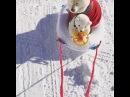 """Toshimi on Instagram: """"Please drive safely 🌱 ママ〜〜安全運転でお願いしますよ〜〜❣️ 頼みますよ〜〜💦 🌱 🌱 白くまさんとソリを楽しんだよ! ママは運転下手くそだよね〜〜 危なかったよ〜〜😅 🌱 🌱 空のサーフ ノー 白くま二人組 空の雪"""