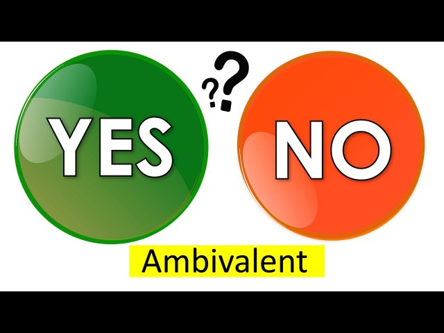 Most Difficult English Words - AMBIVALENT - Meaning, Advanced Vocabulary With Pictures and Examples