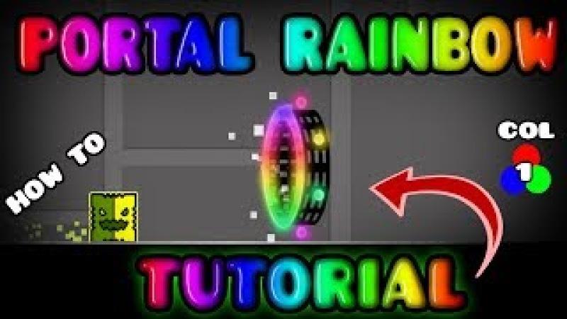 [TUTORIAL] COMO HACER PORTALES RAINBOW/ARCOIRIS EN GEOMETRY DASH 2.1 |KevincoxxGd