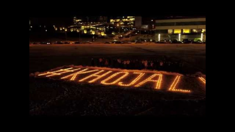 The flashmob regarding to commemoration of Khojaly in Vilnius Lithuania