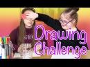 She Cheated!! Blindfolded Drawing Challenge (Olivia Haschak vs Sarah Grace)