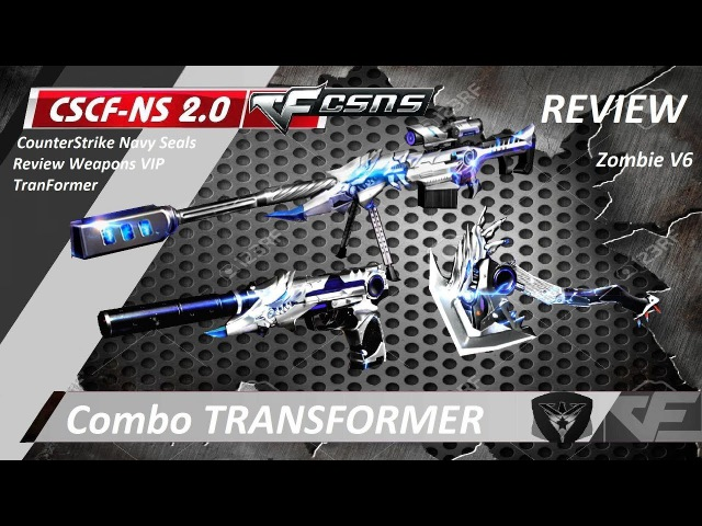 CF Ares | Combo Barret M82A1USPAXE TRANSFORMER So cools ! Zombie V6 Gameplay