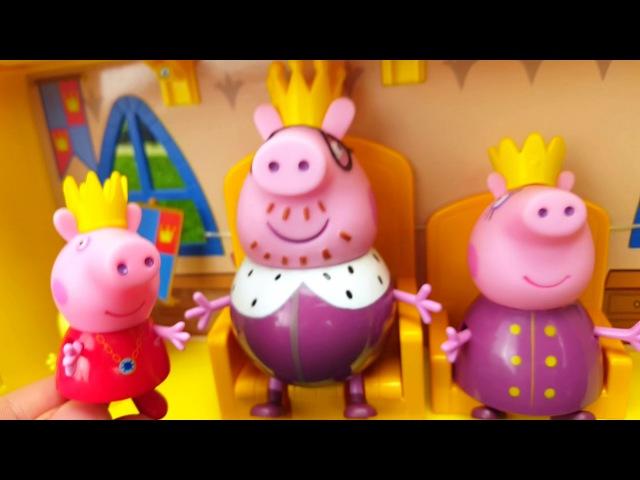БОЛЬШОЙ ЗАМОК Свинки Пеппы. Новая игрушка и Новая история) Peppa Pig 粉紅豬一家親 ペッパピッグ