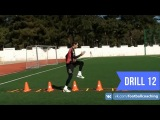 Football coaching video - soccer drill - ladder coordination (Brazil) 12