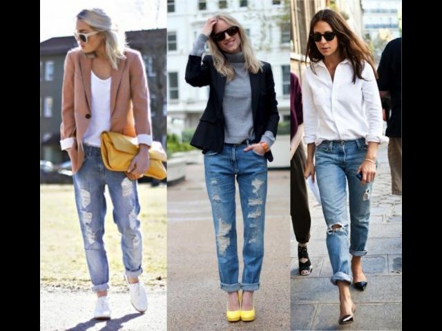 Женские Рваные ДЖИНСЫ - 2018 / Women's ripped jeans / Frauen zerrissene Jeans