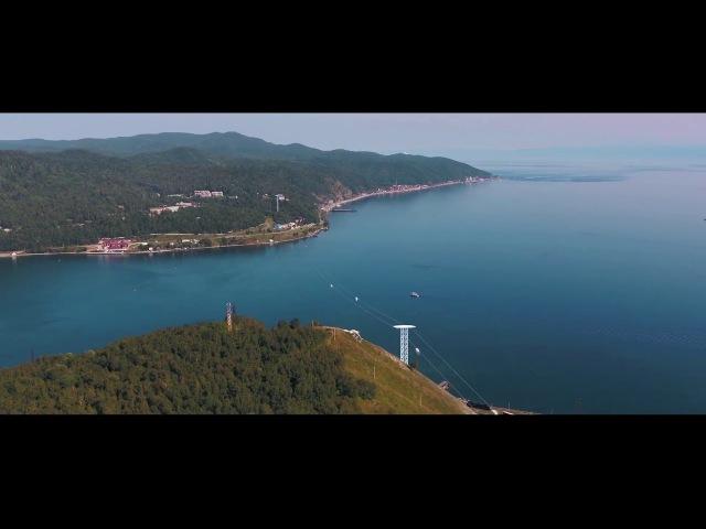 Визуализация юнибуса и лёгкой трассы SkyWay на озере Байкал➨ SkyWay Capital инвестиционн...