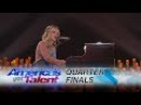 """Evie Clair: 13-Year-Old Sings Moving Rendition of """"Wings"""" - America's Got Talent 2017"""