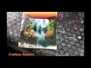 Tutorial Finger Painting 5 waterfall