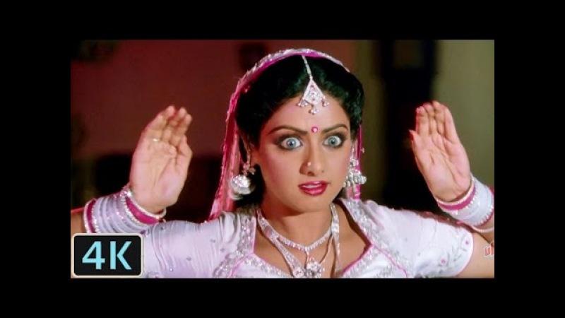 'Main Teri Dushman, Dushman Tu Mera' 4K Video Song   Sridevi   Nagina